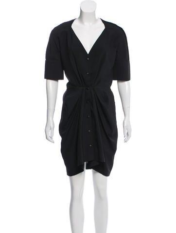 Balenciaga Ribbed Mini Dress None