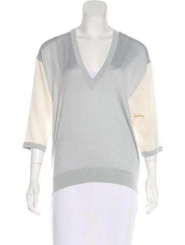 Balenciaga Silk Knit Top None