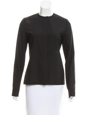 Balenciaga Wool Button-Up Top None