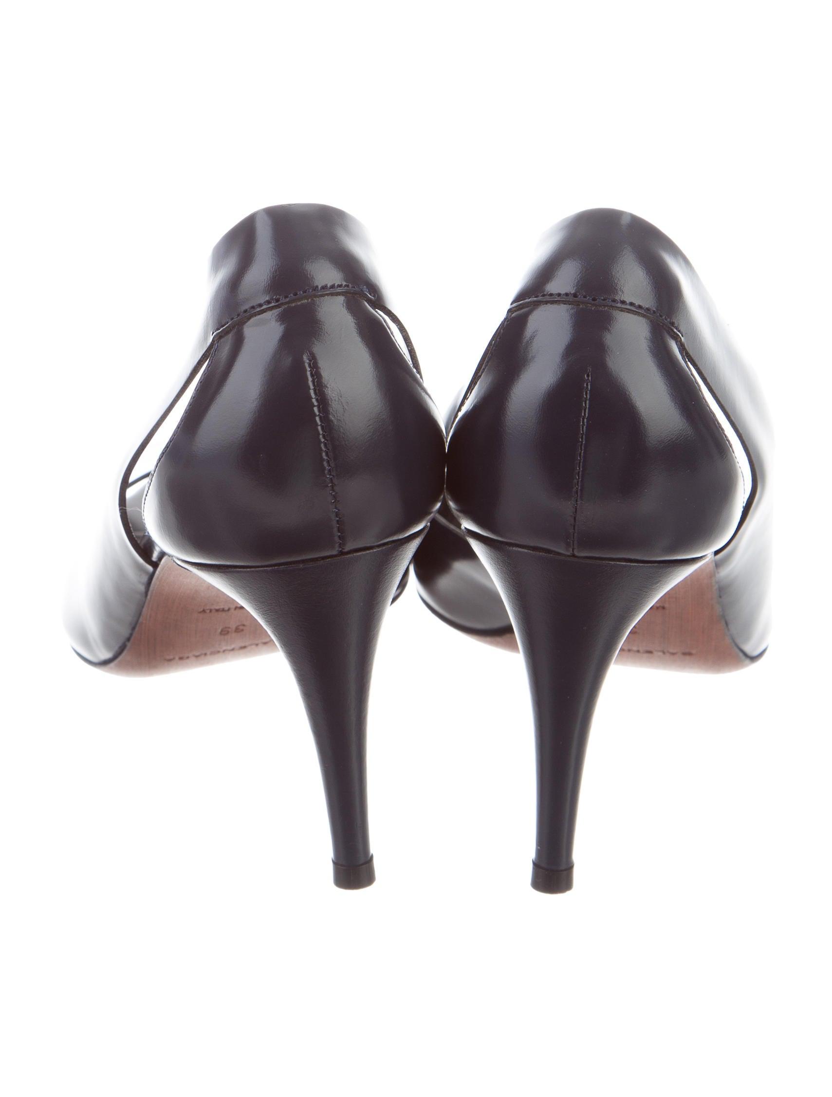 Balenciaga Peep-Toe Half d'Orsay Pumps outlet pick a best cheap sale comfortable 9Fq7rpYkh