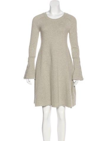 Balenciaga Wool Flare Dress None