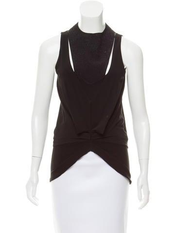 Balenciaga Sleeveless V-Neck Top w/ Tags None