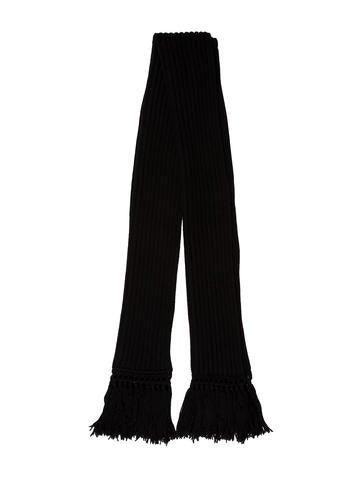 Balenciaga Wool-Blend Fringe Scarf None