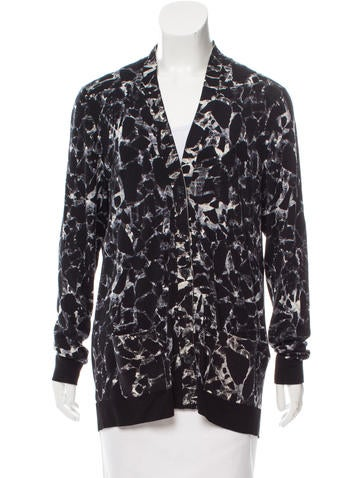 Balenciaga Printed Wool Cardigan None