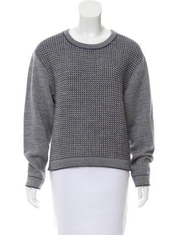 Balenciaga Wool Woven Sweater None