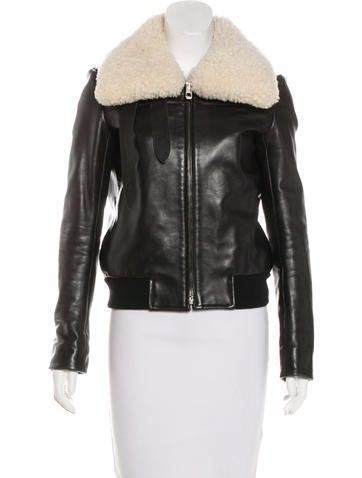 Balenciaga Shearling Leather Jacket None