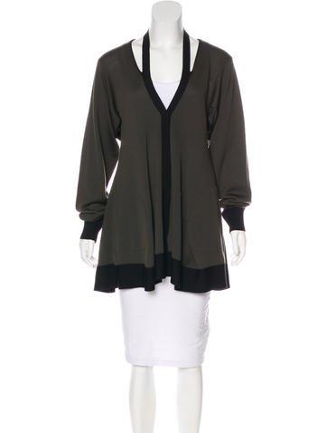 Balenciaga Wool Cutout Cardigan None