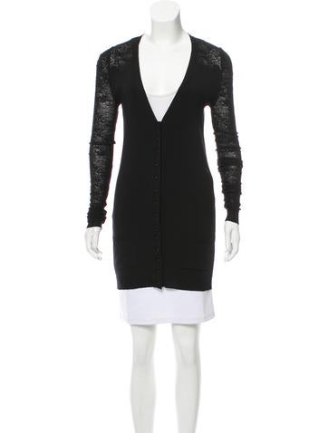 Balenciaga Longline Wool Cardigan None