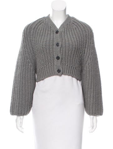 Balenciaga Wool & Alpaca-Blend Cardigan None