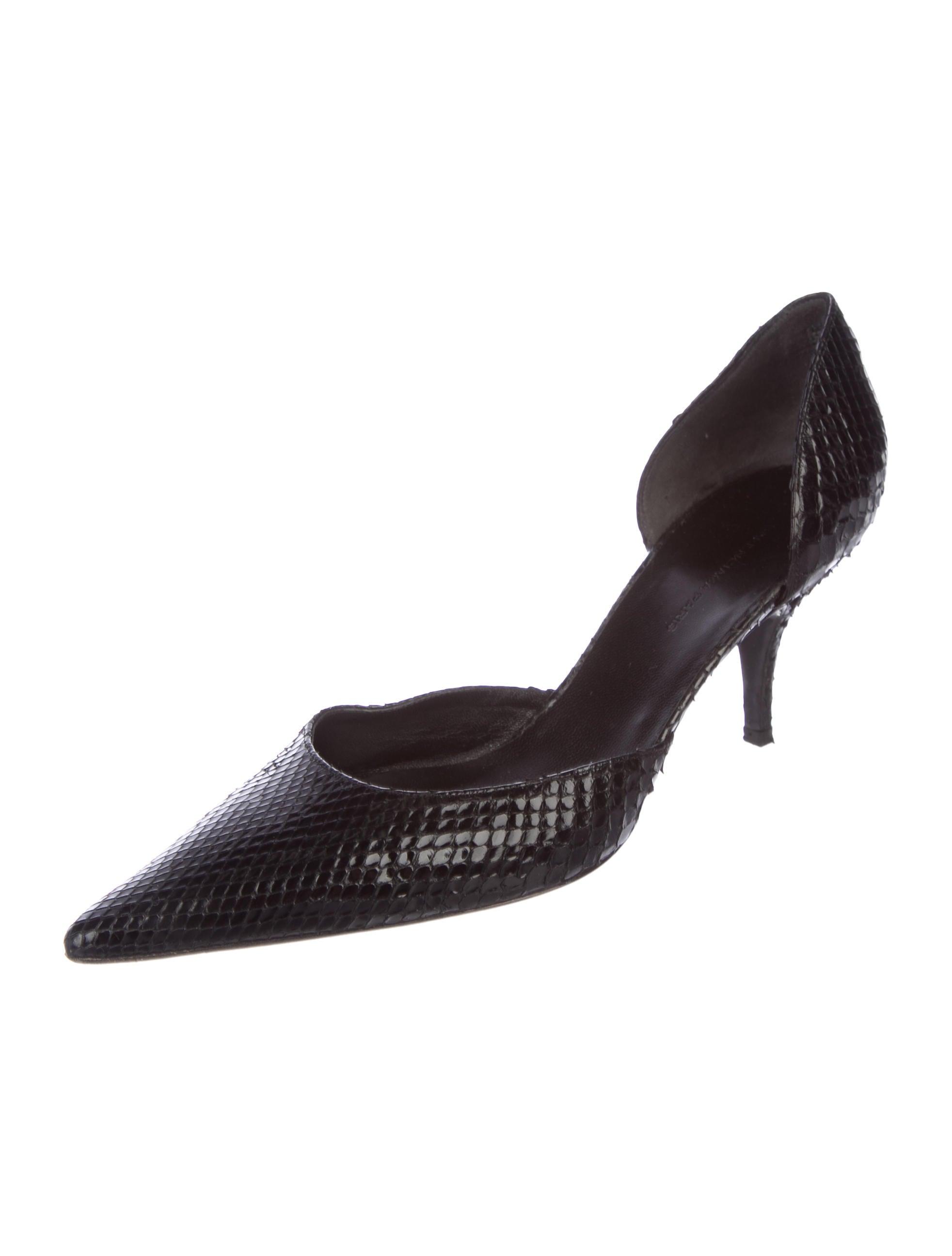 Balenciaga Snakeskin D'Orsay Pumps 100% original cheap online Y8w5B