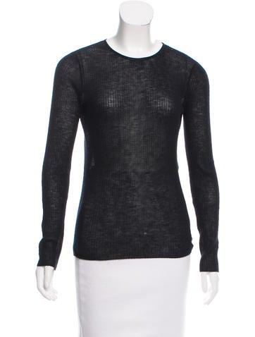 Balenciaga Crew Neck Cashmere Sweater None