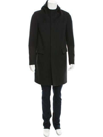Balenciaga Hooded Wool Coat None