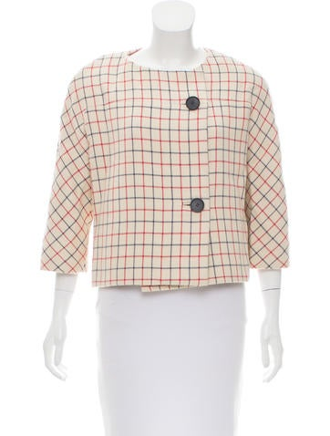 Balenciaga Checkered Wool Jacket None