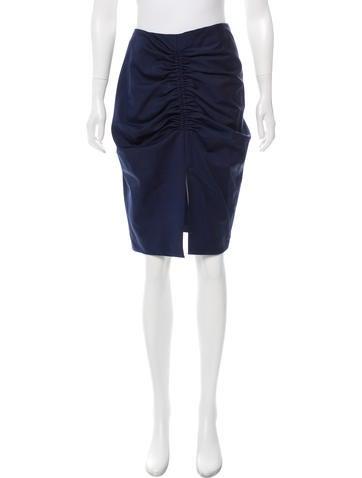 Balenciaga Wool Ruched Skirt None