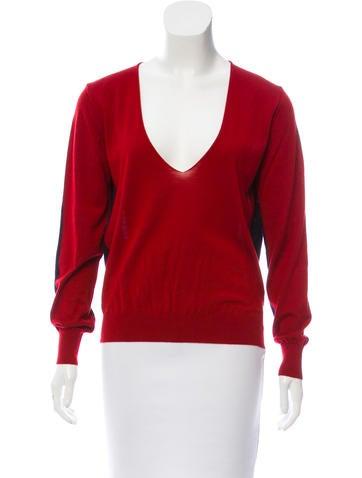 Balenciaga Two-Tone Cashmere Sweater None