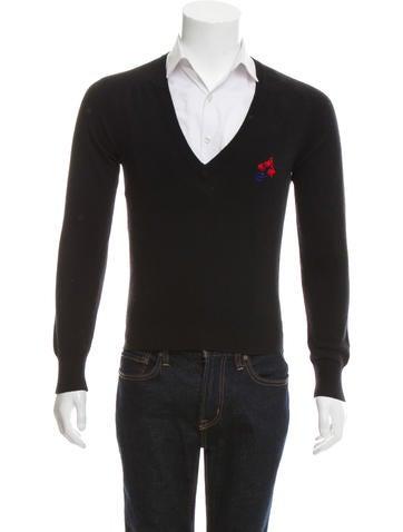 Balenciaga Wool V-Neck Sweater None