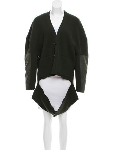 Balenciaga Oversize Wool Cardigan None