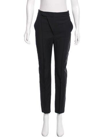 Balenciaga High-Rise Wool Pants None