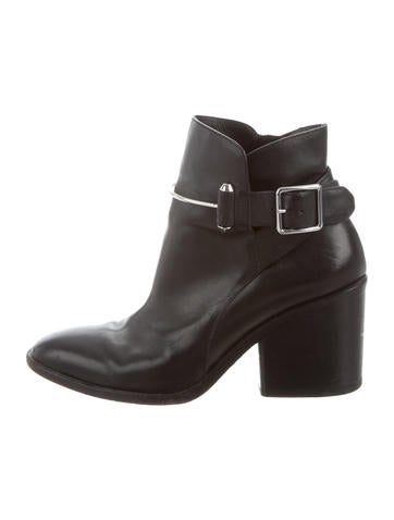 buy cheap sneakernews Balenciaga Buckle-Accented Leather Ankle Boots many kinds of cheap price clearance 100% authentic oksG6