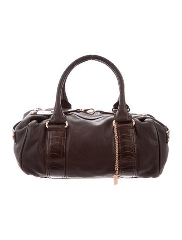 Balenciaga Ostrich-Trimmed Whistle Bag None