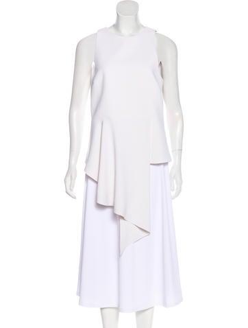 Balenciaga Sleeveless Asymmetrical Top None