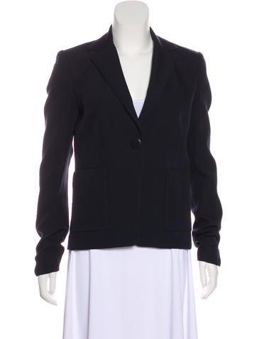 Balenciaga Wool Notch-Lapel Blazer None