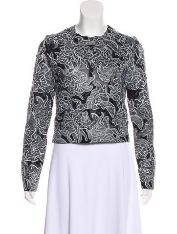 Semi-Sheer Embroidered Sweatshirt