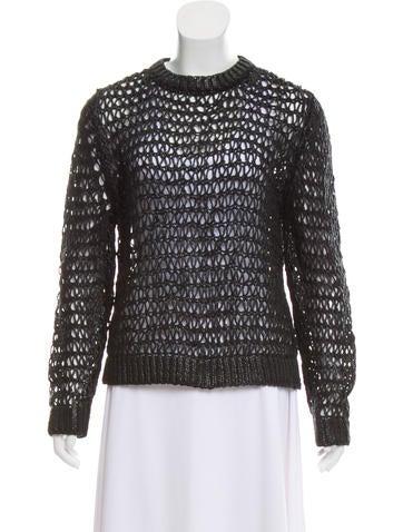 Balenciaga Coated Open Knit Sweater None