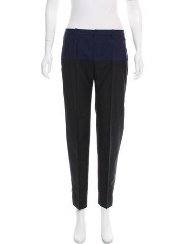 Balenciaga Wool Mid-Rise Pants None
