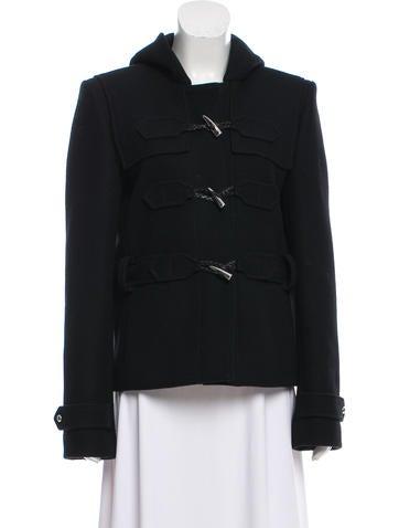 Balenciaga Hooded Wool Jacket None