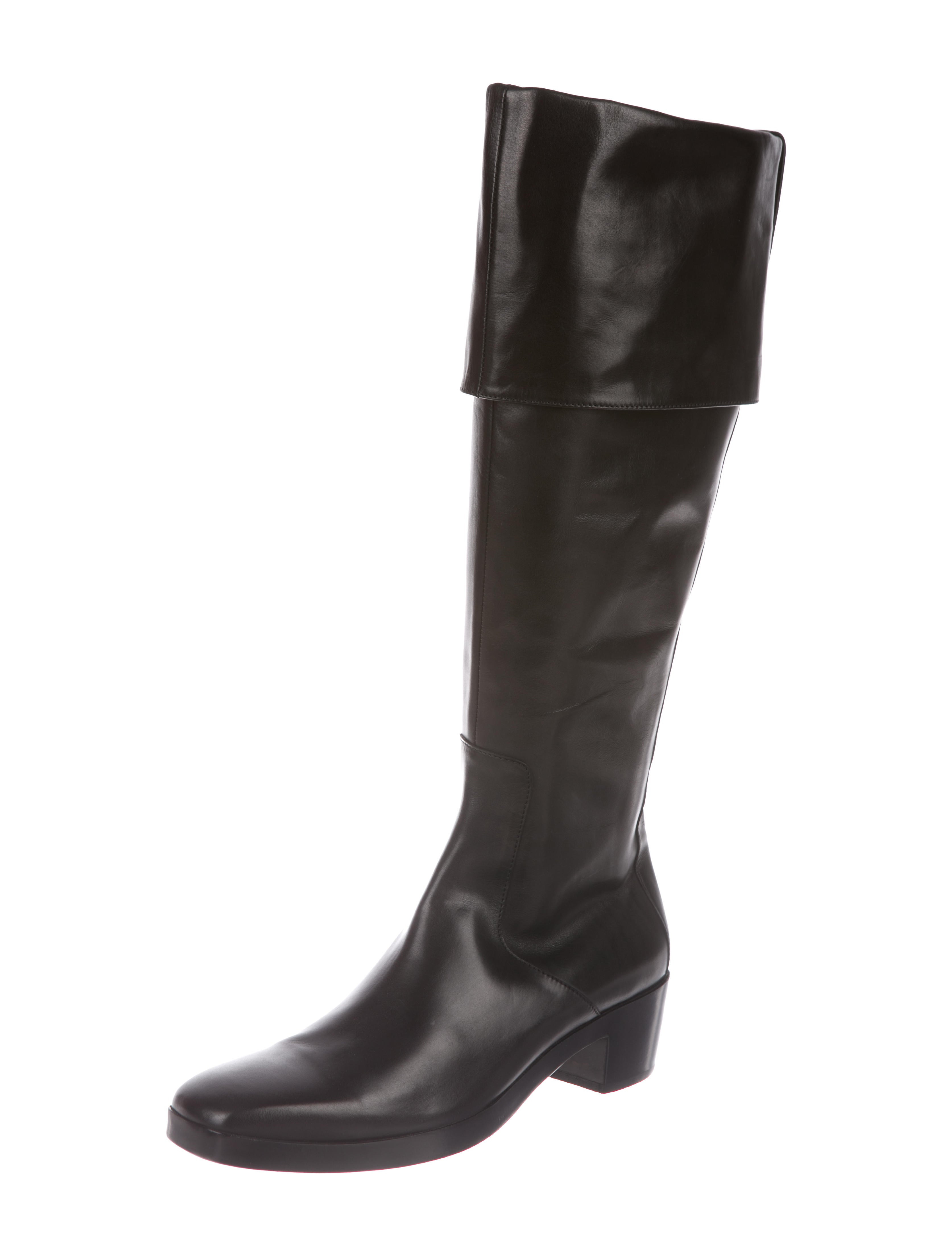 Balenciaga Leather Knee-High Boots w/ Tags factory outlet for sale NfG8Wv