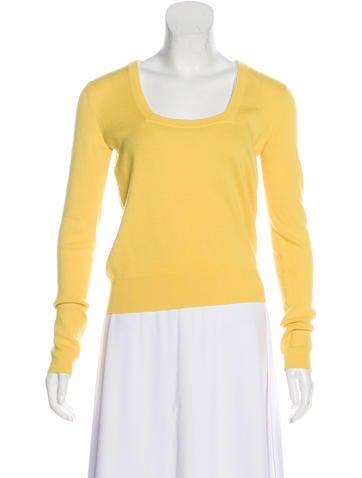 Balenciaga Wool Square Neck Sweater None