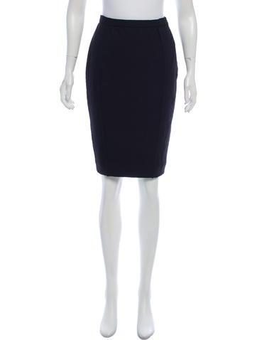 Balenciaga Wool Knee-Length Skirt None