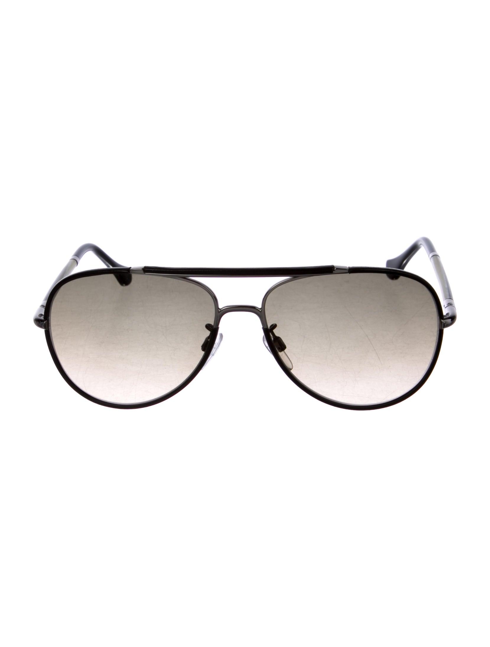 1ee97b558 Balenciaga Leather-Trimmed Aviator Sunglasses - Accessories ...