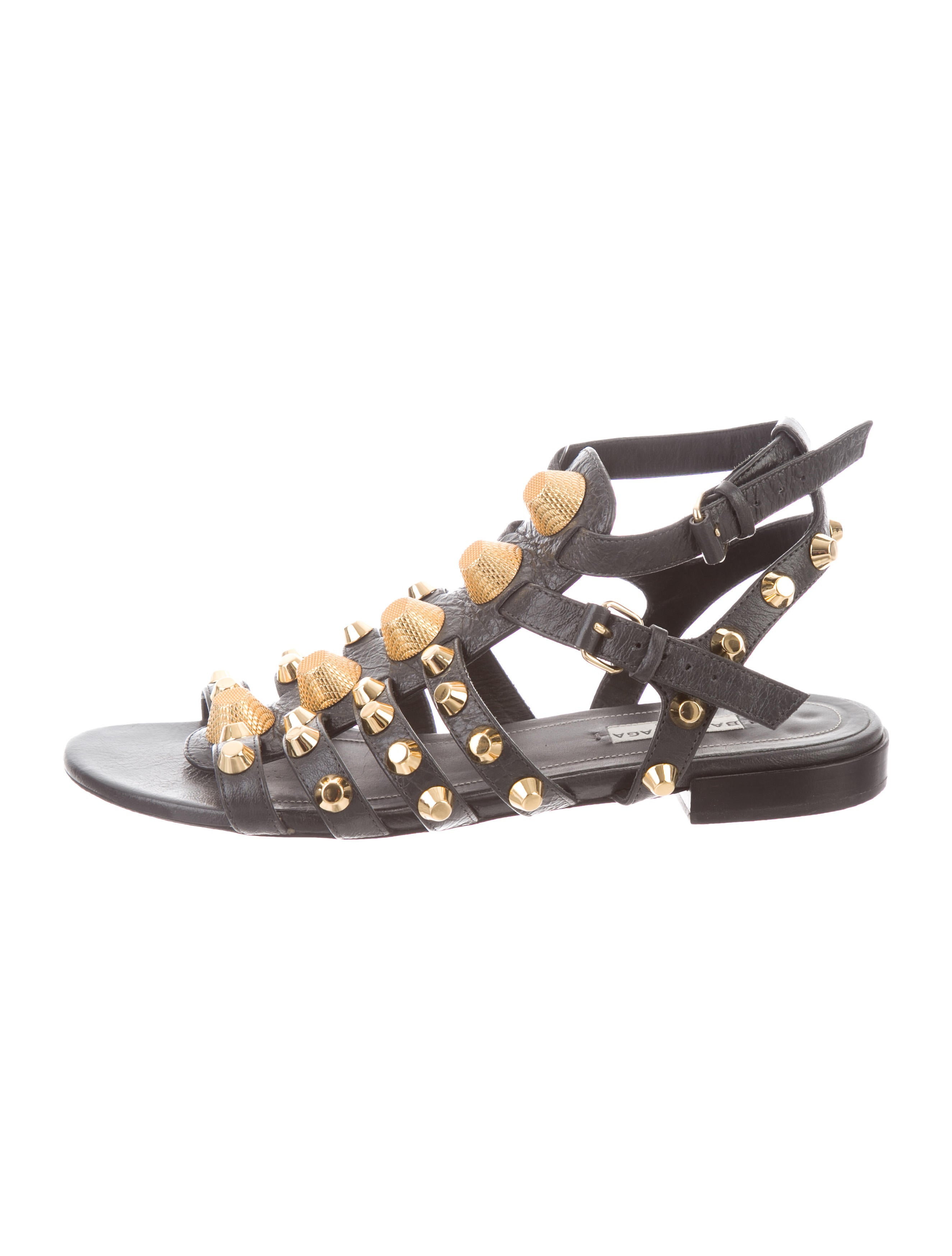 Shoes Realreal Bal72438the Ar5j3ql4 Gladiator Studded Balenciaga Sandals 5j4LA3R