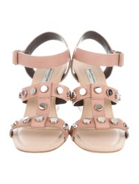 presentando qualità incredibile nuovo economico Balenciaga Leather Studded Wedges - Shoes - BAL79225 | The RealReal