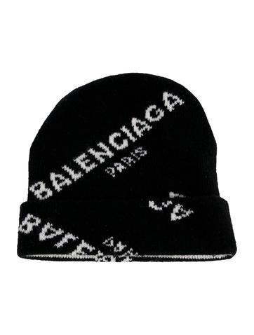 436ddd19e90 Balenciaga Knit Logo Beanie - Accessories - BAL80558