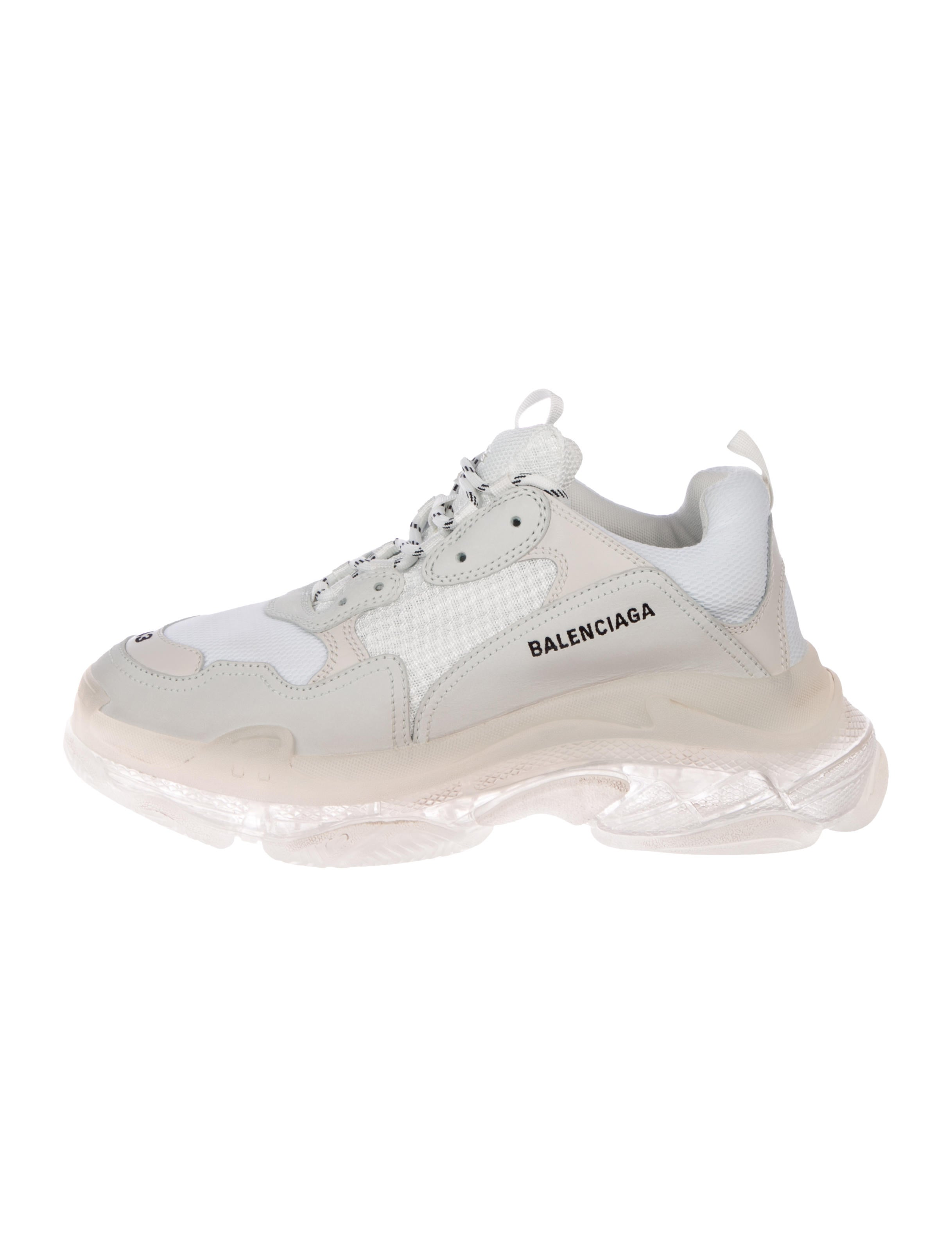 Balenciaga Leather Grey Triple S Sneakers in Gray for Men