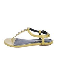 b130f9f5e47 Leather Flat Sandals. Size  US 11