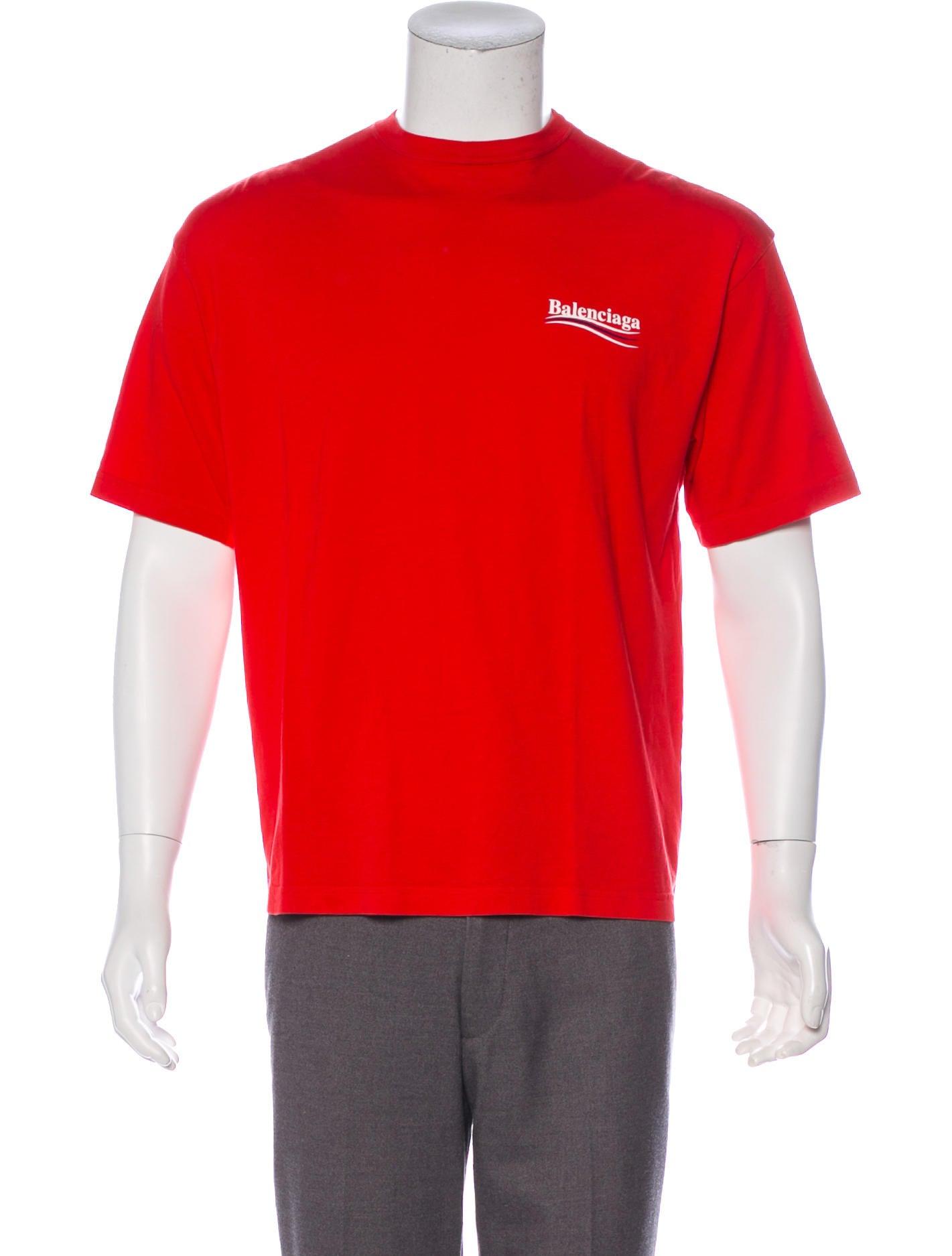 9b5197f2a Balenciaga 2017 Campaign Logo Graphic T-Shirt - Clothing - BAL85154 ...