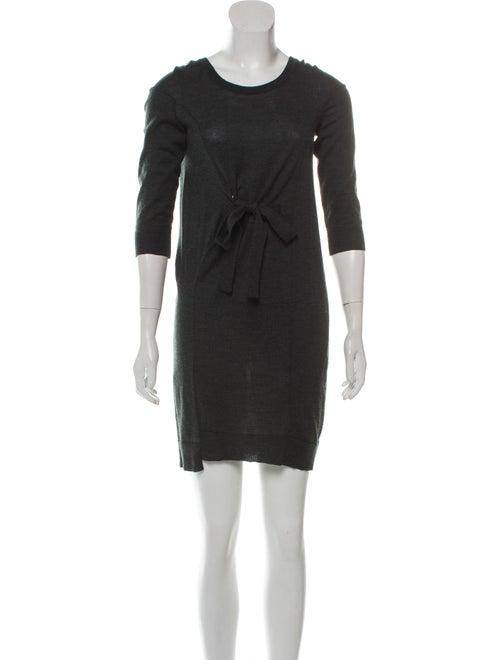 Balenciaga Wool Knit Dress green