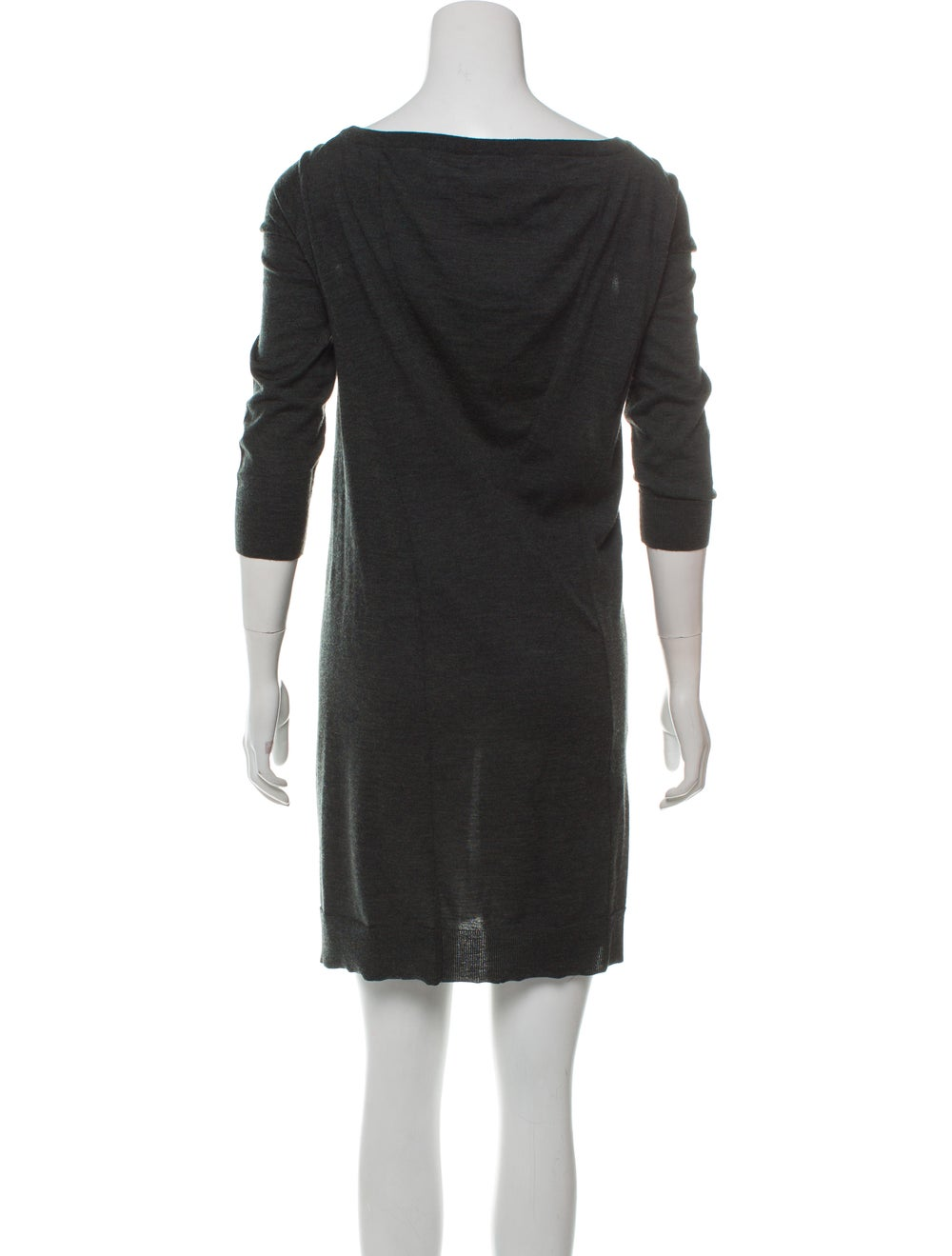 Balenciaga Wool Knit Dress green - image 3