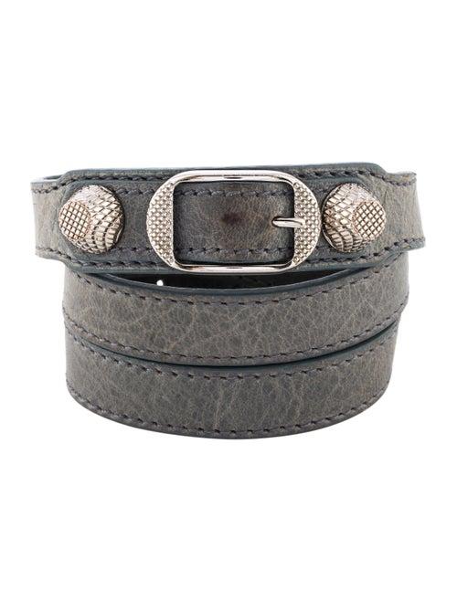 28c3e994832cf Balenciaga Leather Arena Giant Triple Tour Bracelet - Bracelets ...