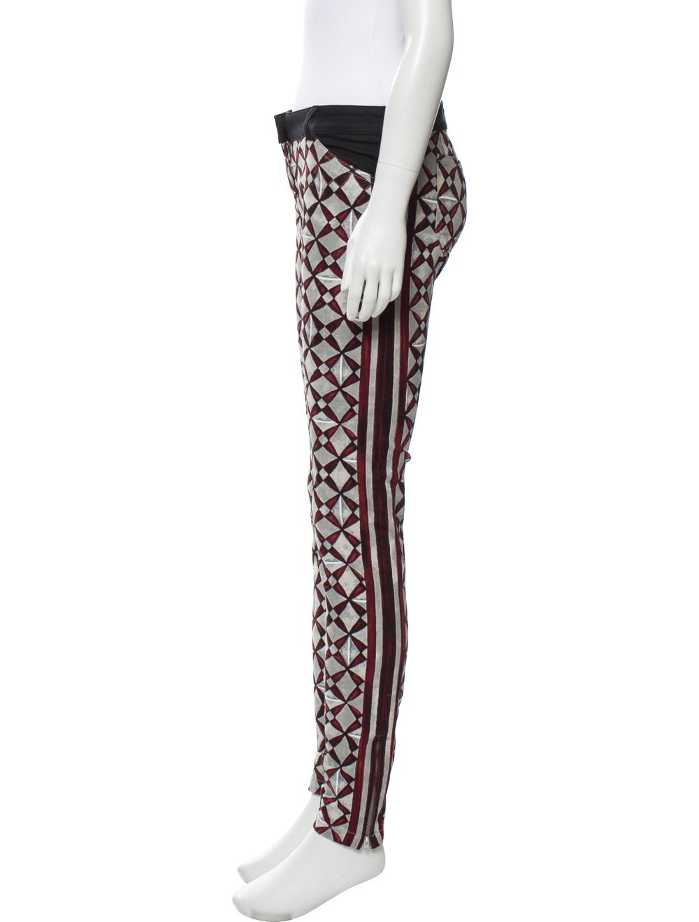 Balenciaga Mid-Rise Printed Jeans Grey - image 2