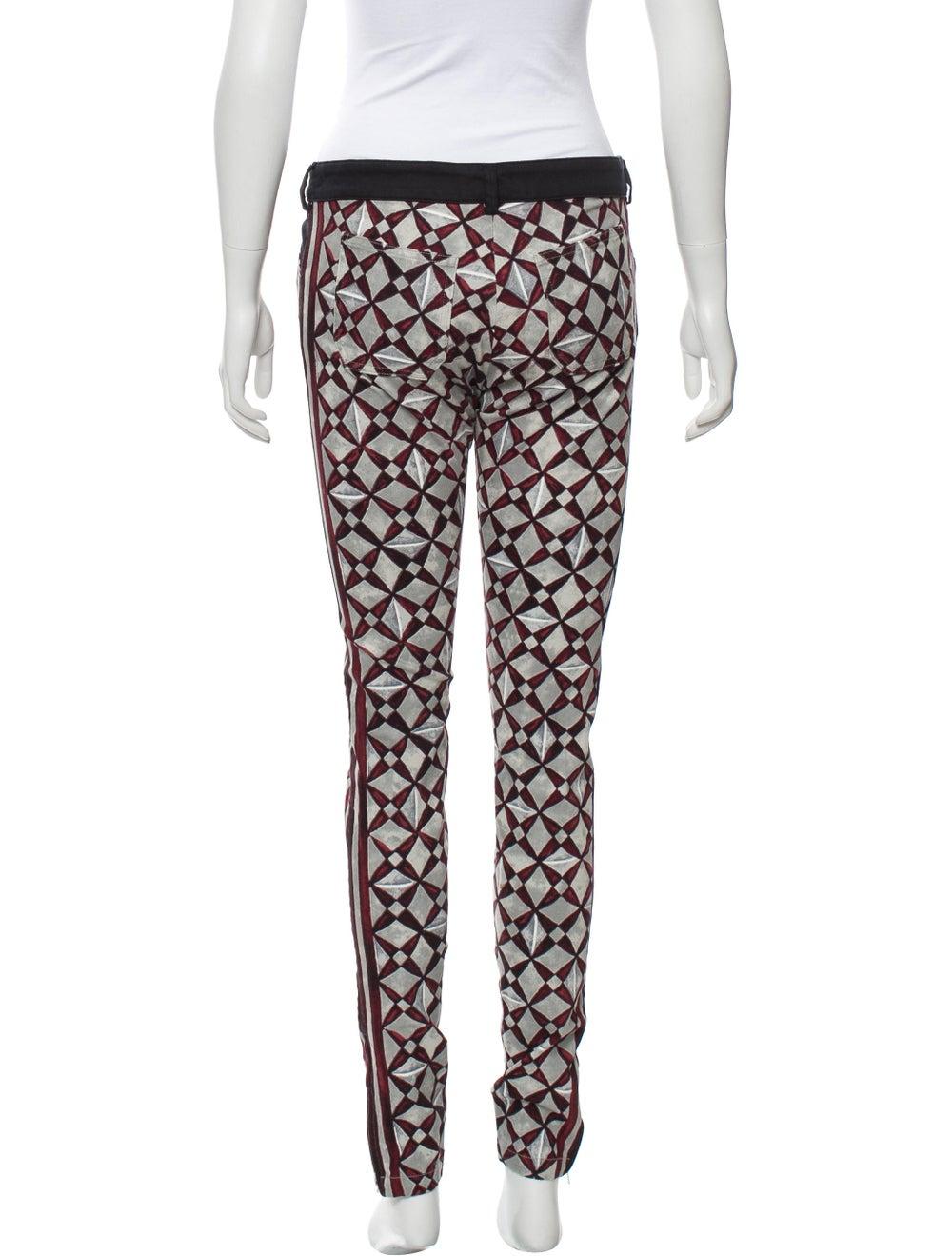 Balenciaga Mid-Rise Printed Jeans Grey - image 3