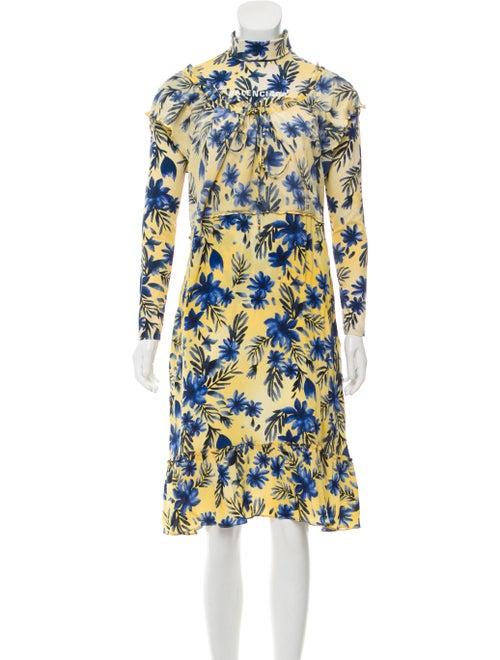 Balenciaga Printed Maxi Dress Yellow
