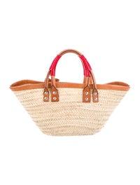 venta de tienda outlet tienda oficial acogedor fresco Balenciaga Bistrot Panier Straw Tote Bag - Handbags ...