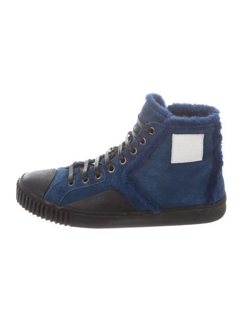 Balenciaga Cap-Toe Shearling-Trimmed Sneakers bla… - image 1