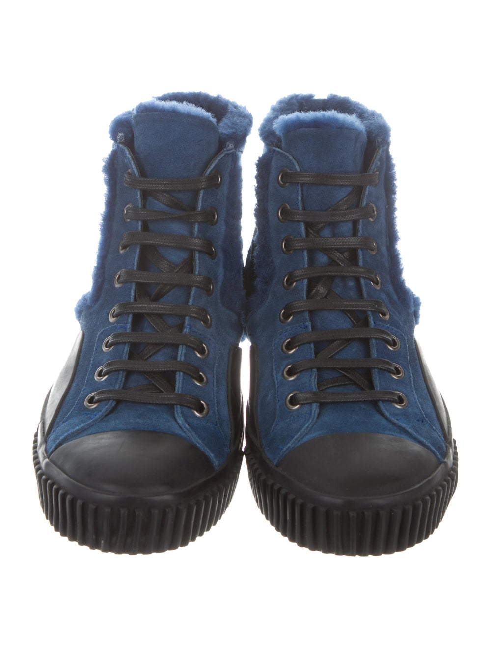 Balenciaga Cap-Toe Shearling-Trimmed Sneakers bla… - image 3