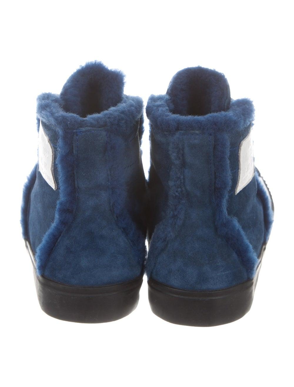 Balenciaga Cap-Toe Shearling-Trimmed Sneakers bla… - image 4